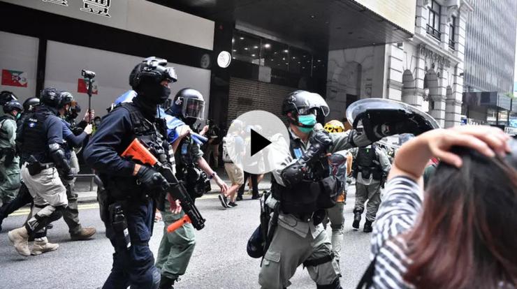 Tensiuni în jurul Parlamentului la Hong Kong, 27 mai 2020