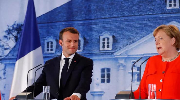 Emmanuel Macron şi Angela Merkel, luni 29 iunie, la castelul Meseberg situat la 70 de kilometri de Berlin.