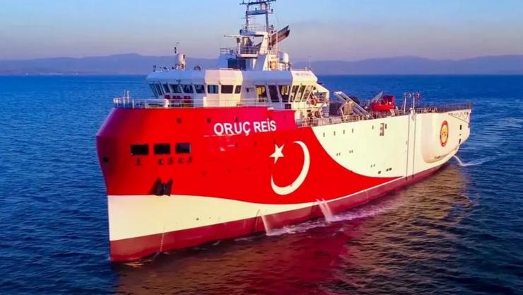 Nava de explorare turcă Oruç-Reis în Mediterana
