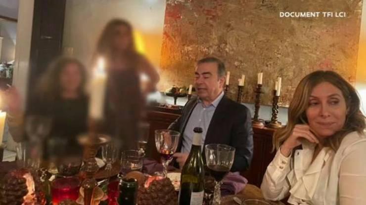 Carlos Ghosn si sotia sa, de Revelion, la Beirut