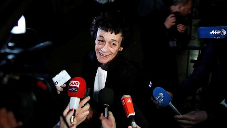 Avocata lui Carlos, Isabelle Coutant-Peyre, pe care acuzatul a luat-o de nevastà în 2001, la deschiderea procesului, luni 13 martie 2017