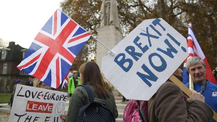 Britanici care cer ieşirea Marii Britanii din UE (Foto: Reuters/Toby Melville/arhivă 2016)