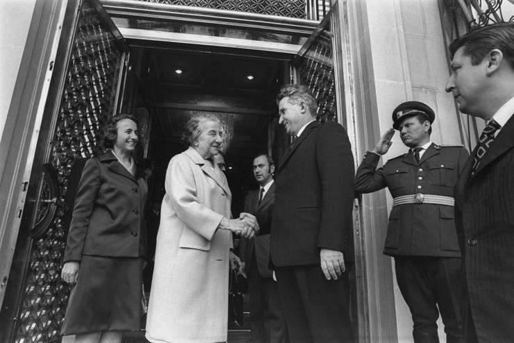 Nicolae Ceaușescu și Golda Meir