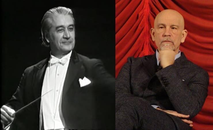 Sergiu Celibidache și John Malkovich