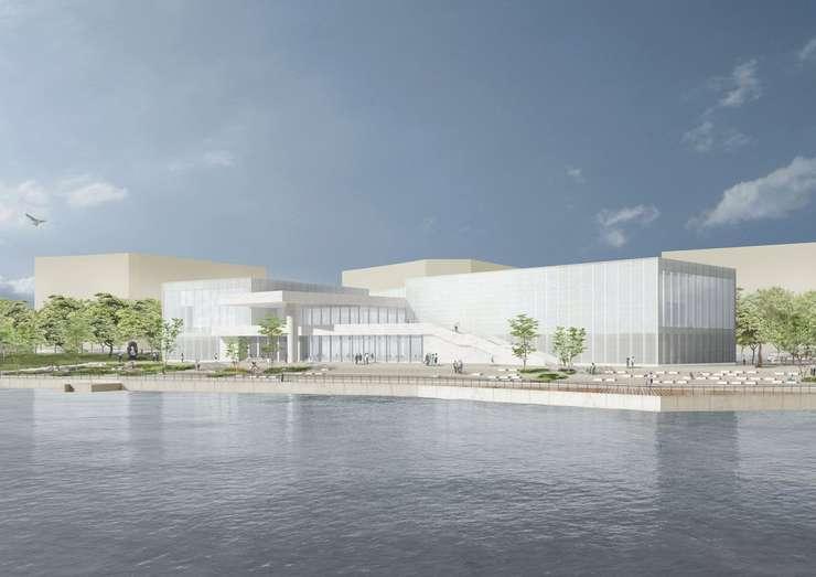 Centre Pompidou West Bund Museum Shanghai se va deschide în noiembrie. Proiectul apartine arhitectului David Chipperfield, binecunoscut pentru amenajarea multor altor muzee din lumea întreaga.