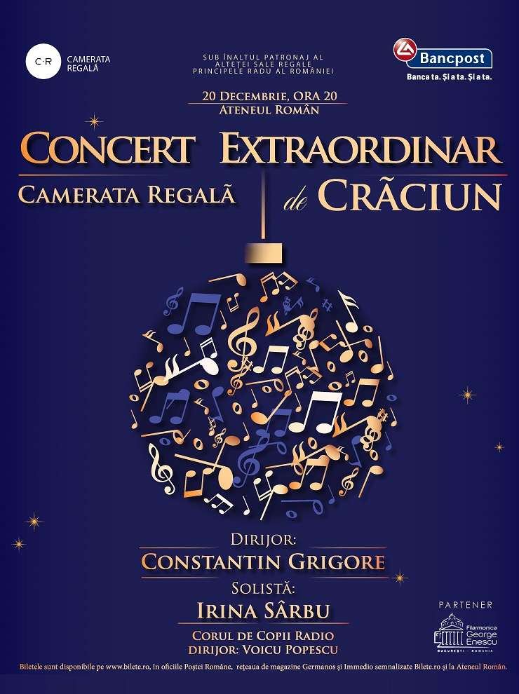 Concert extraordinar de Crăciun - Camerata Regală, București 2017