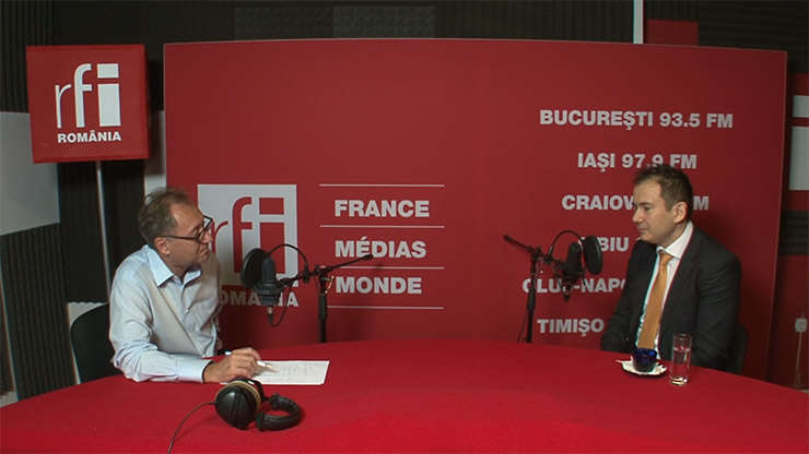 Constantin Rudniţchi și Andrei Pogonaru la RFI Romania