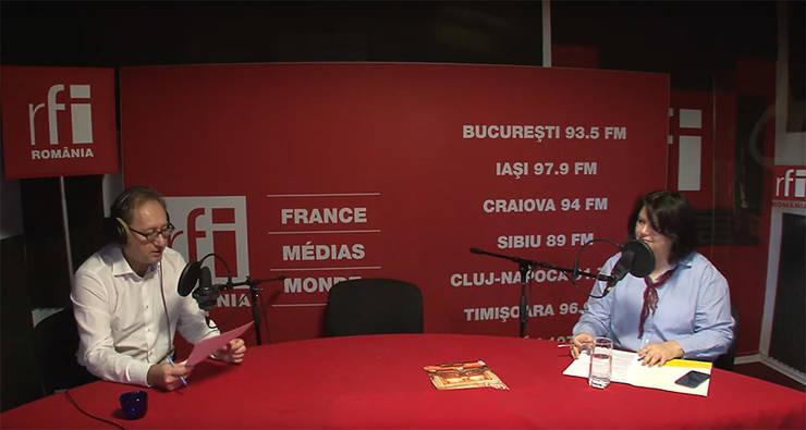 Constantin Rudniţchi si Laura Lică-Banu in studioul RFI Romania
