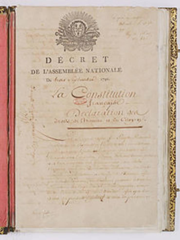 Constitutia franceza din 3 septembrie 1791.