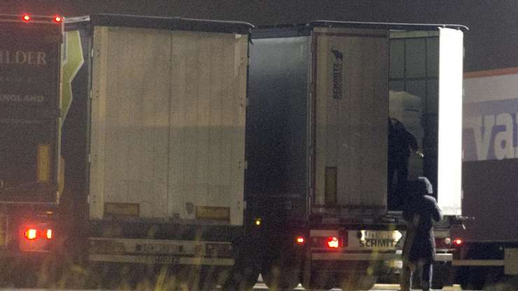 Camion frigorific la Calais
