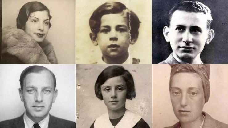Deportati din convoiul 77, ultimul care a plecat în ziua de 31 iulie 1944, de la Drancy (Franta) spre lagàrul de exterminare de la Auschwitz.