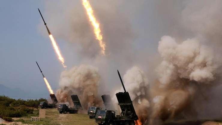 """Coreea de nord a tras si sâmbàta trecutà, 4 mai, o serie de """"proiectile"""" (foto ilustratie)"""