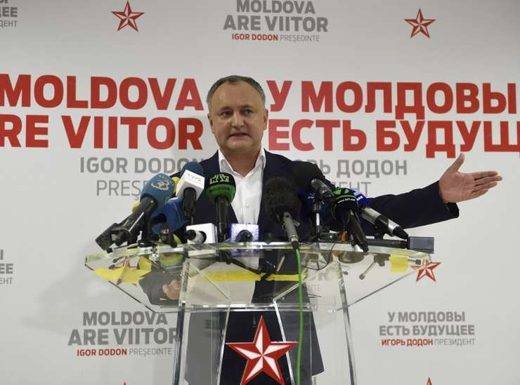 Preşedintele ales al Republicii Moldova, Igor Dodon (Foto: AFP/Daniel Mihăilescu)