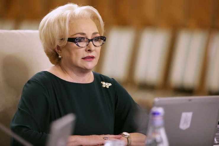 Premierul Viorica Dăncilă, în şedinţă de Guvern (Sursa foto: gov.ro)