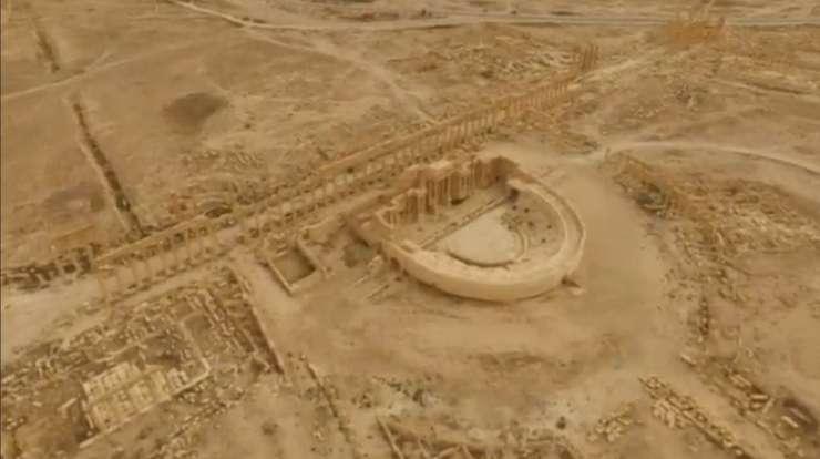 Oraşul antic Palmira, văzut de sus (Foto: Reuters/Rossiya 24)