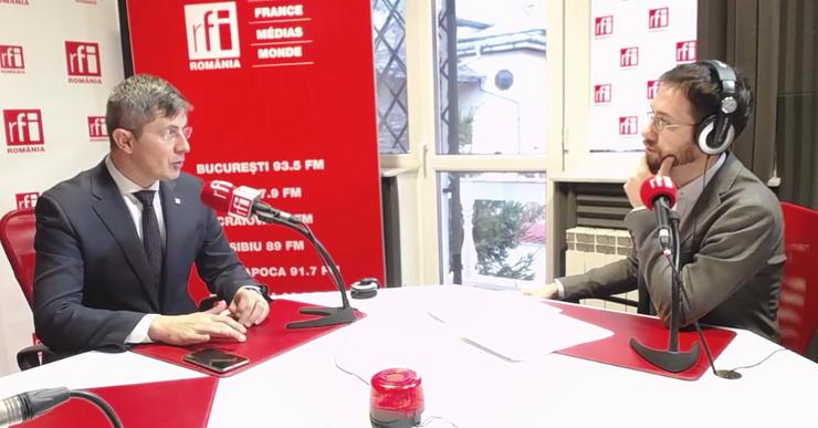 Dan Barna, în studioul RFI (arhivă)