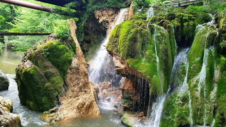 Cascada Bigăr, după prăbușire (Sursa foto: RFI/Otilia Ghițescu)
