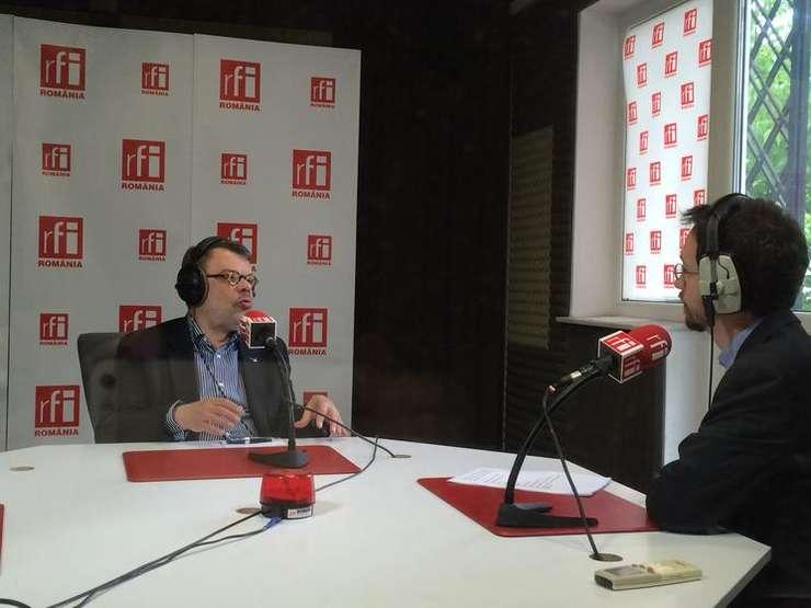 Daniel Barbu, în studioul RFI (Foto: arhivă RFI)