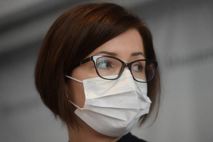 Ministrul Sănătății, Ioana Mihăilă, a prezentat situația deceselor din cauza Covid-19 (Sursa: MEDIAFAX FOTO/Eduard Vînătoru)