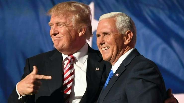 Donald Trump si Mike Pence la Conventia republicanilor, Cleveland, Ohio, 21 iulie 2016.