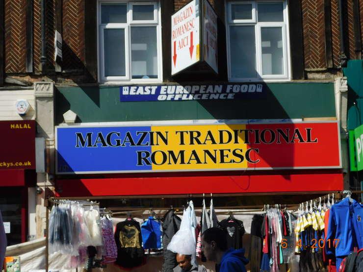 Magazin românesc în Barking, estul Londrei
