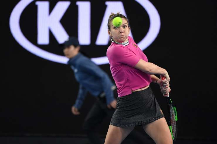 Simona Halep, aici la Australian Open (Foto: AFP/William West)