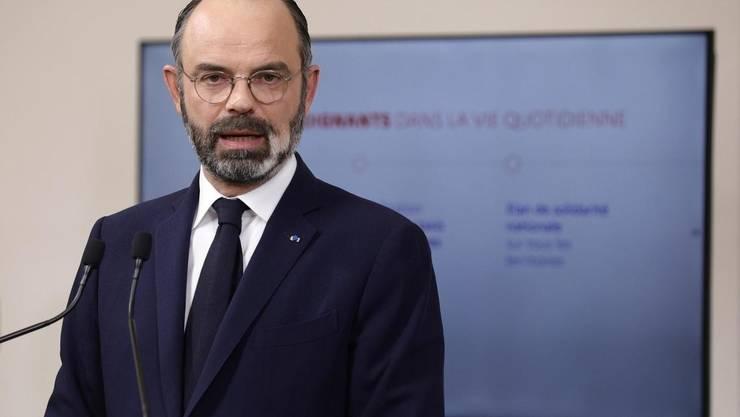 Premierul Frantei, Edouard Philippe, sâmbàtà 28 martie 2020.