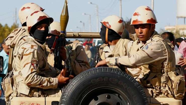 Trupe egiptene în Sinai, decembrie 2017