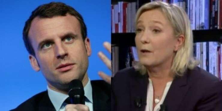Emanuel Macron si Marine Le Pen incep lupta pentru presedintia Frantei