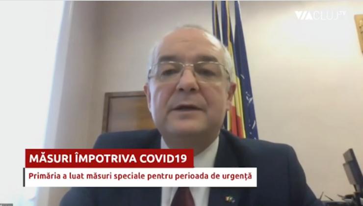 Primarul Emil Boc a anunțat noi măsuri împotriva coronavirusului într-o conferință de presă susținută online.