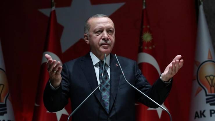 Presedintele Turciei Recep Tayyip Erdogan, la Ankara în fata membrilor partidului sàu AKP, 10 octombrie 2019