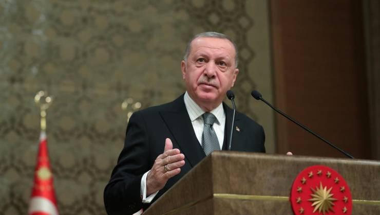 Presedintele turc Recep Tayyip Erdogan la Ankara, 2 ianuarie 2020