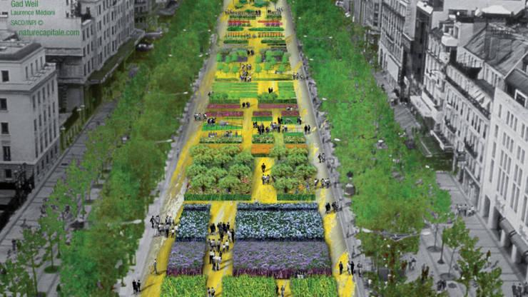 """În mai 2010 Bulevardul Champs-Elysées a găzduit o expoziţie în aer liber numită """"Nature Capitale"""""""