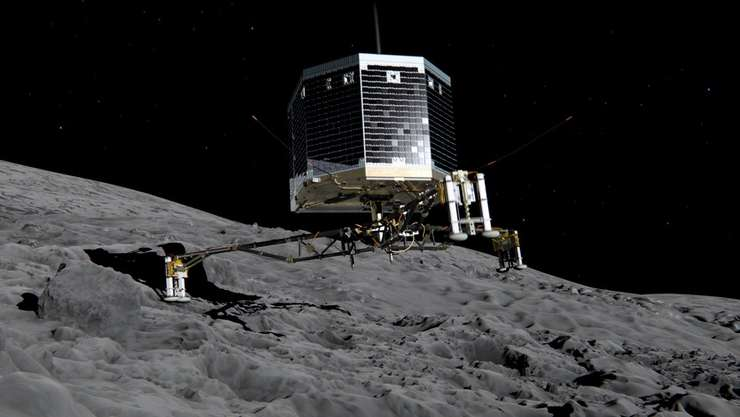 Robotul Philae, pe cometa Ciuri