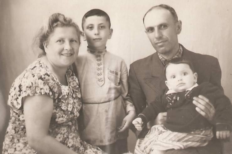 Familia Goligorsky în Siberia, 1955