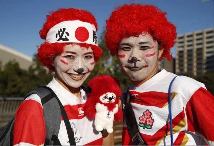 Fani japonezi înaintea meciului Japonia - Scoția