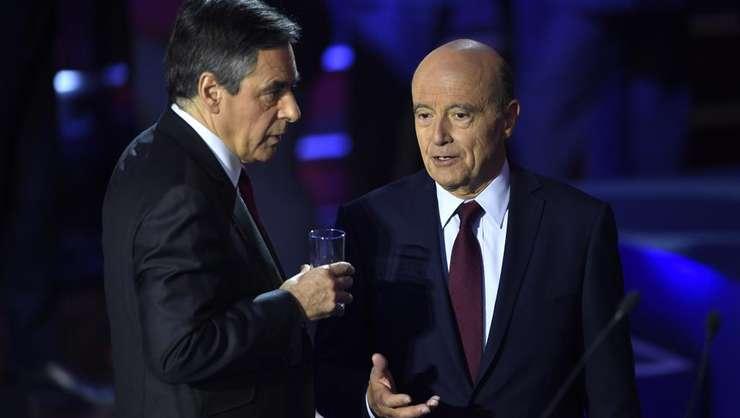 Cei doi finalisti ai primarelor dreptei franceze, François Fillon si Alain Juppé