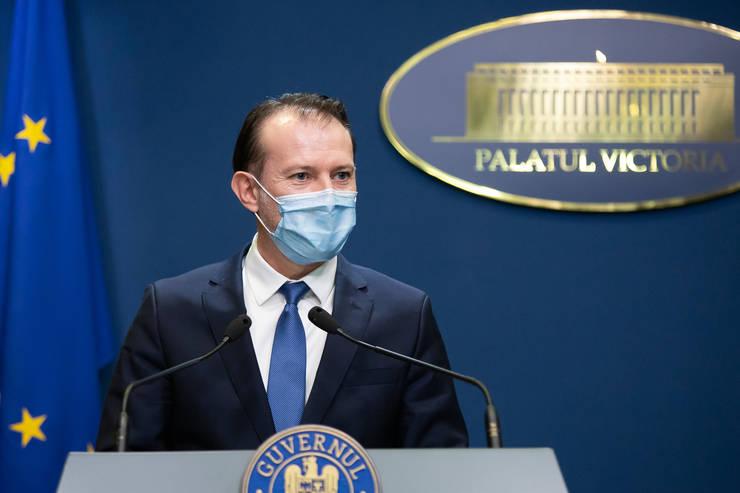 De la sfarsitul lunii iulie am putea renunta la masca de protectie, anunta premierul Florin Citu. (Sursa foto: gov.ro)