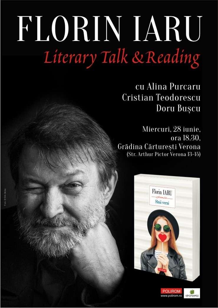 Literary Talk & Reading cu Florin Iaru, Cărturești Verona, București 2017