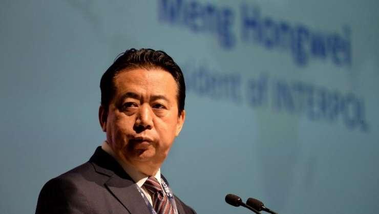 Fostul director Interpol, chinezul Meng Hongwei, în iulie 2017, în timpul unui congres international la Singapore.