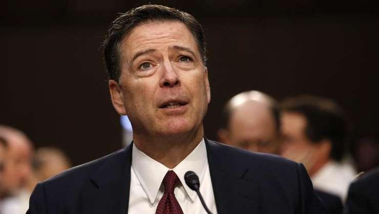 Fostul sef al FBI, James Comey în timpul unei audieri în Congres, 8 iunie 2017