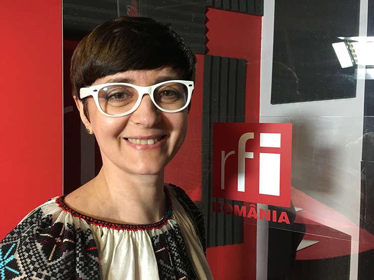 Dorina Moisă in studioul RFI Romania