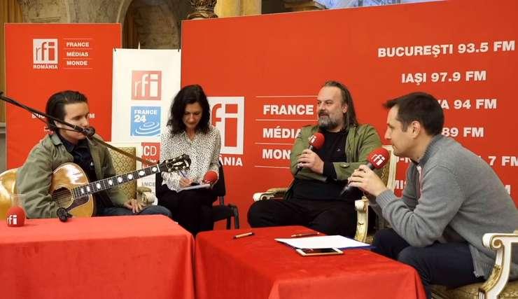 Muzicianul francez  Theo Lawrance și Florin Oslobanu de la Club Control