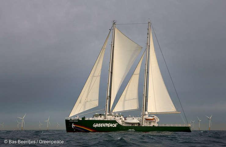 Nava Rainbow Warrior ajunge la Constanța (Sursa foto: Greenpeace)