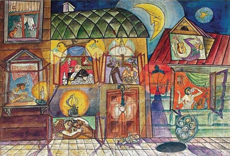 George Lowendal - Schiță de decor pentru Teatrul Hai