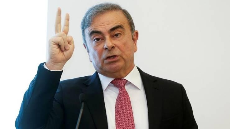 Carlos Ghosn, fostul patron Renault-Nissan, la o conferintà de presà la Beirut, 8 ianuarie 2020