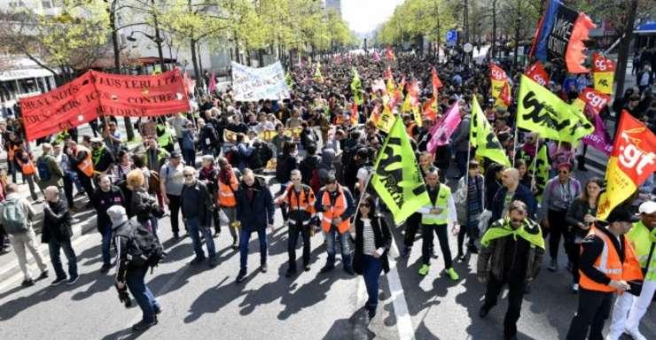 Manifestatie a angajatilor de la càile ferate franceze contra reformei preconizate de guvern, 13 aprilie 2018