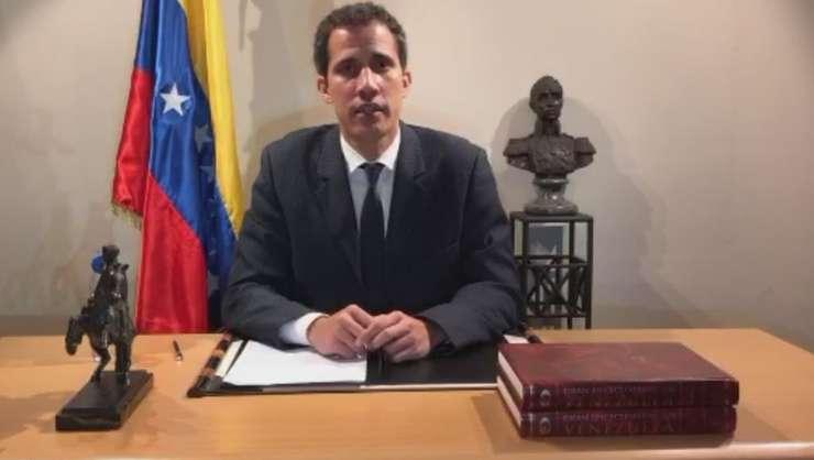 Juan Guaido, presedintele interimar autoproclamat al Venezuelei, s-a exprimat în direct pe reteaua Twitter în 27 ianuarie 2018