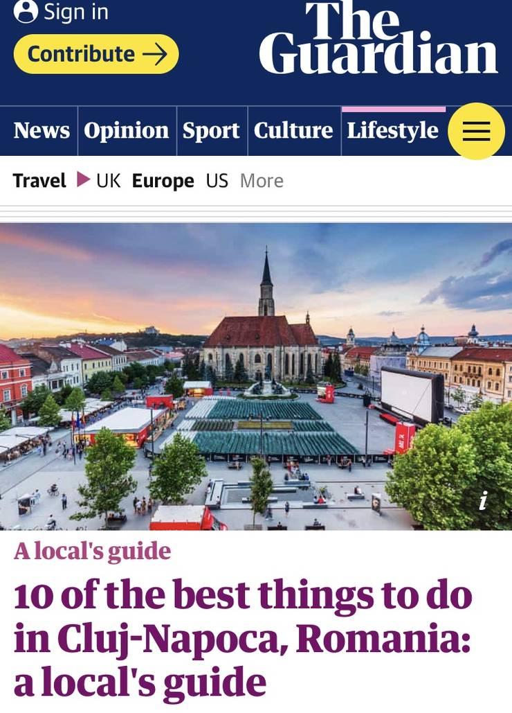 Publicația britanică The Guardian a făcut un top al celor mai bune 10 lucruri pe care le poți face în Cluj.