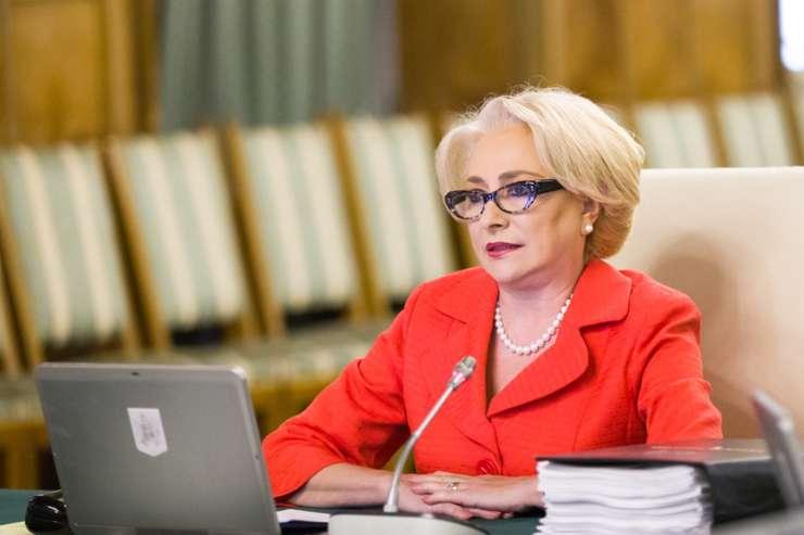 Premierul Viorica Dăncilă, aici într-o şedinţă de Guvern-arhivă (Sursa foto: gov.ro)